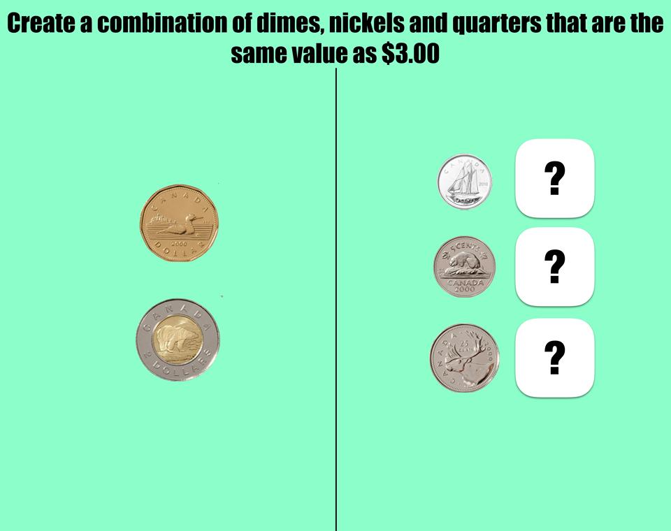 Nickels, Dimes, Quarters