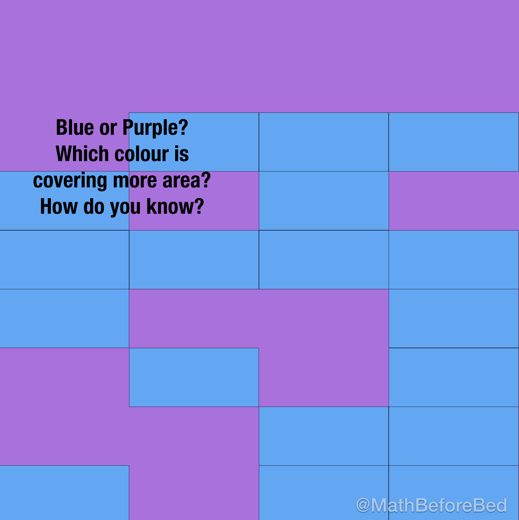 Purple Area or Blue Area?