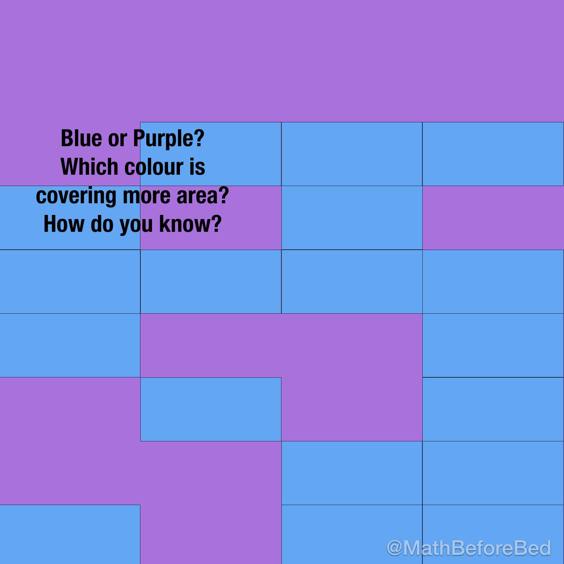 Purple Area or Blue Area?