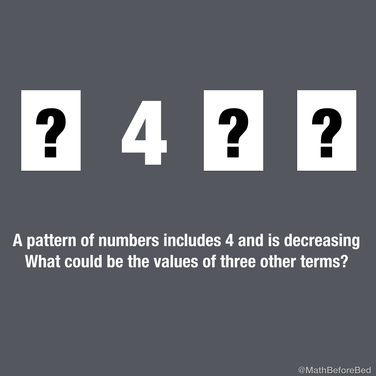 A Pattern with 4