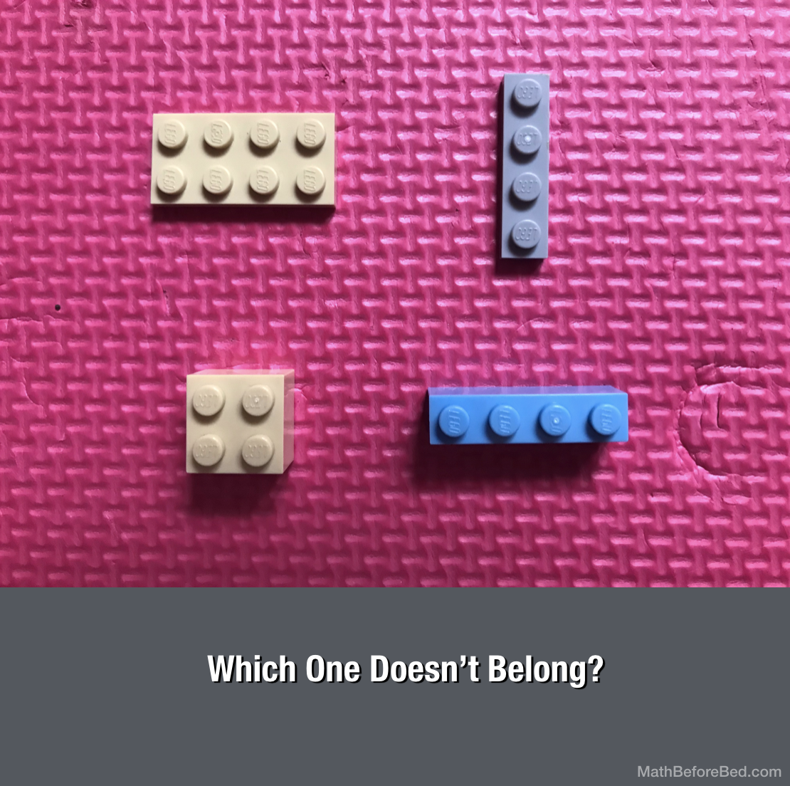 Which Lego Piece Doesn't Belong?